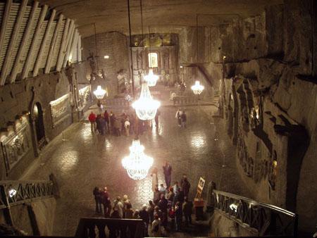Chapelle de la mine de sel de Wieliczka