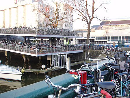 Parking a vélo de la gare