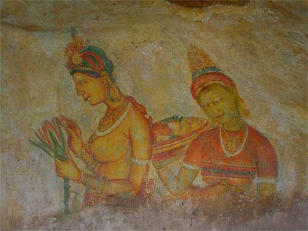 Fresque Des Demoiselles Sigiriya Triangle Culturel