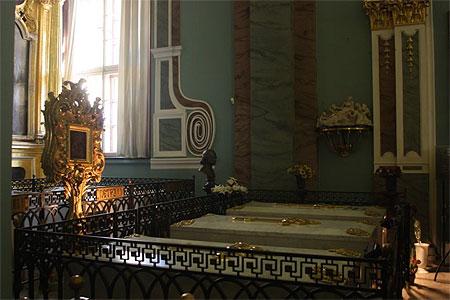Nécropole des Romanov - Collégiale Pierre et Paul - Tombeau de Pierre Le Grand