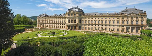 Les sites Unesco en Allemagne. Photo : Résidence de Wurtzbourg © Office National Allemand du Tourisme / Jochen Keute