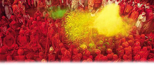 Fêtes insolites dans le monde Photo : Holi © Office indien du tourisme