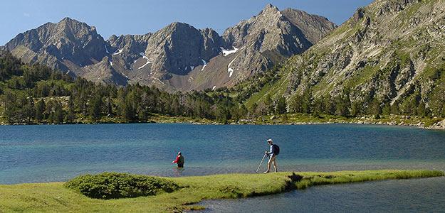 20 randos au fil de l'eau. Photo :  Lac d'Aubert ©  Orriols / Hautes-Pyrénées Tourisme Environnement