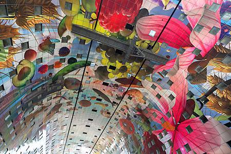 Fresque de la Halle du marché par Arno Coenen © Ossip van Duivenbode