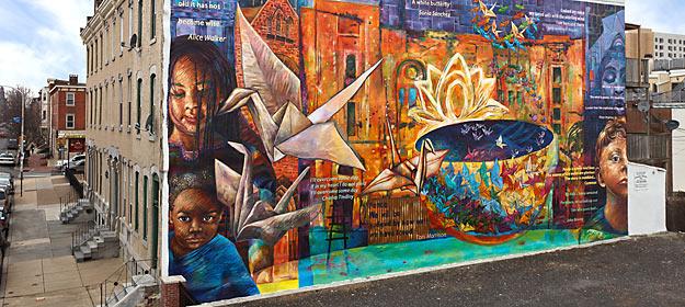Street Art dans le monde - Peace is a Haiku Song de Parris Stancell & Josh Sarantitis © Steve Weinik City of Philadelphia Mural Arts Program