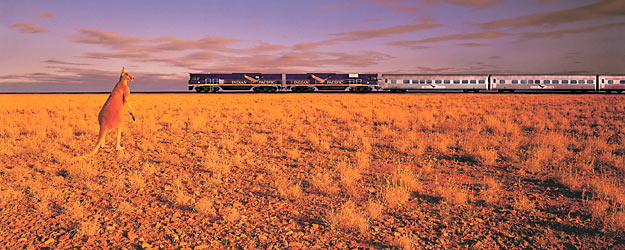 Les trains mythiques. Photo : Indian Pacific © Courtesy of Great Southern Railway