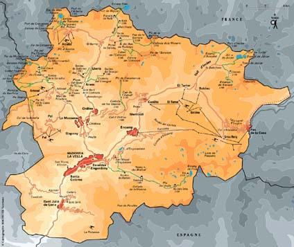 Carte Andorre - Plan Andorre