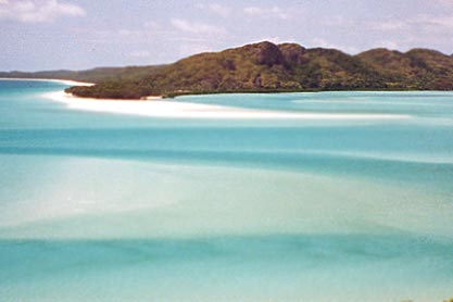 La plage de Whiteheaven dans les îles Whitsunday. Queensland.
