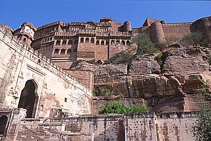 Jodhpur. Fort de Mehrangarh
