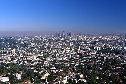 Vue sur Downtown LA à partir de l'observatoire.