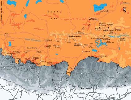 Carte Tibet - Plan Tibet